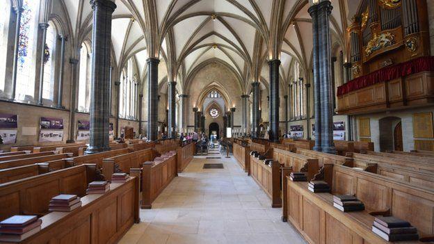 Interior da igreja do templo, City of London