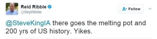 Twitter user Reid Ribble writes: