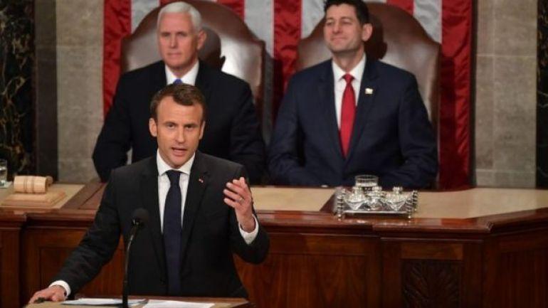 Emmanuel Macron en el Congreso