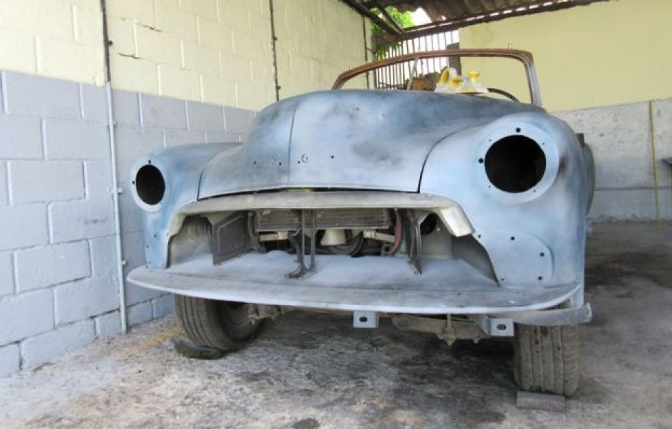 car due to be refurbished