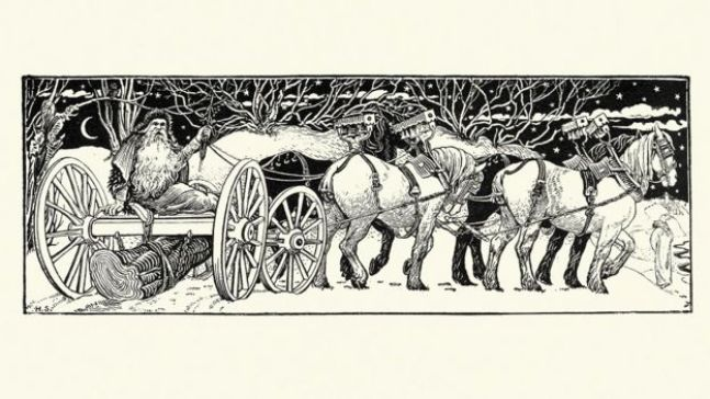 نقش كلاسيكي للكريسماس (يعود إلى القرن التاسع عشر)