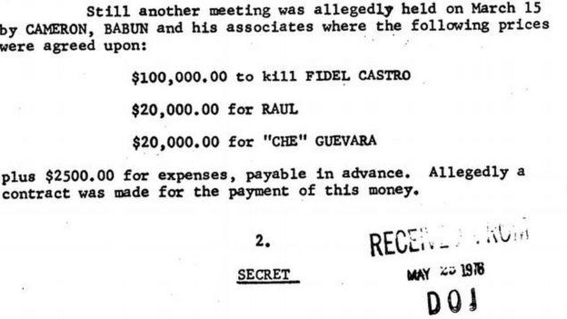 Desglose de los precios de las vidas de Fidel y Raúl Castroy el Che Guevara.