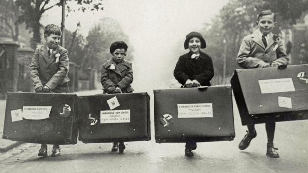 Children en route for emigration to Australia