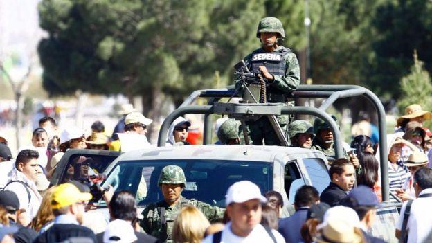 El estado tiene vigilancia militar permanente.