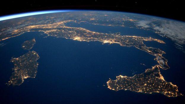 Imagen de la Tierra vista desde la Estación Espacial Internacional.