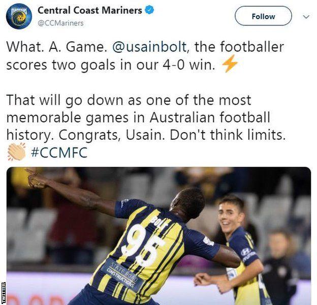 Central Coast Mariners tweet