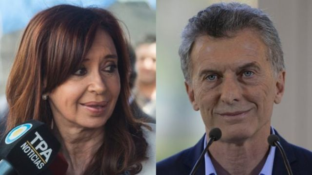 Cristina Kirchner e Mauricio Macri