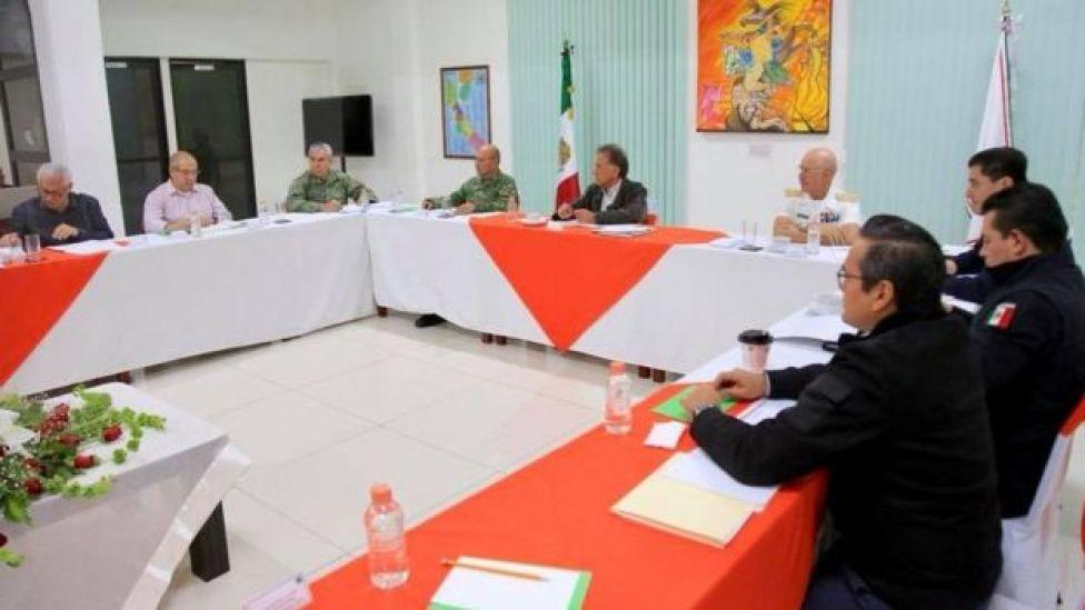 El gobernador de Veracruz encabeza una reunión de seguridad