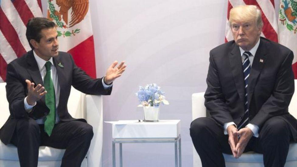Enrique Peña Nieto con Trump.