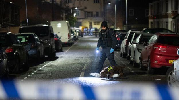 Crime scene at Elmstead Road