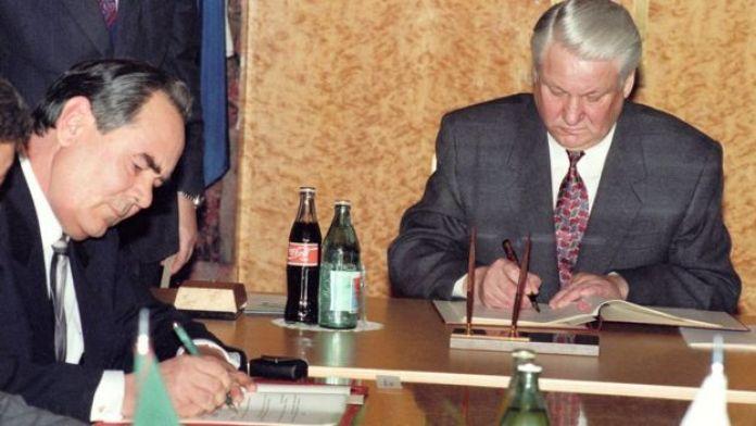 Минтимер Шаймиев, Борис Ельцин