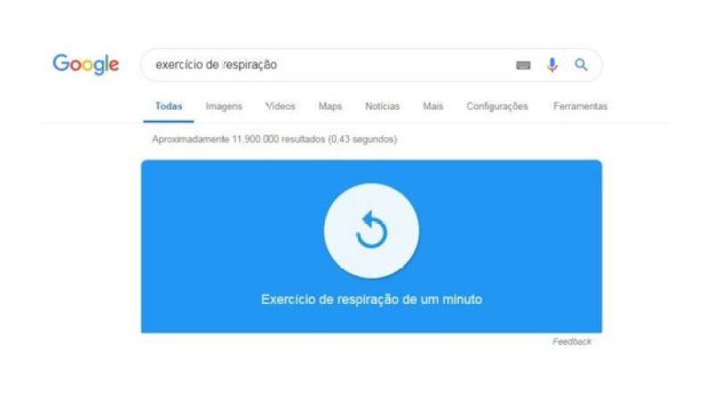 Imagem mostra exercício de respiração disponibilizado pelo Google