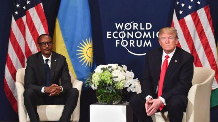 Donald Trump y Paul Kagame.