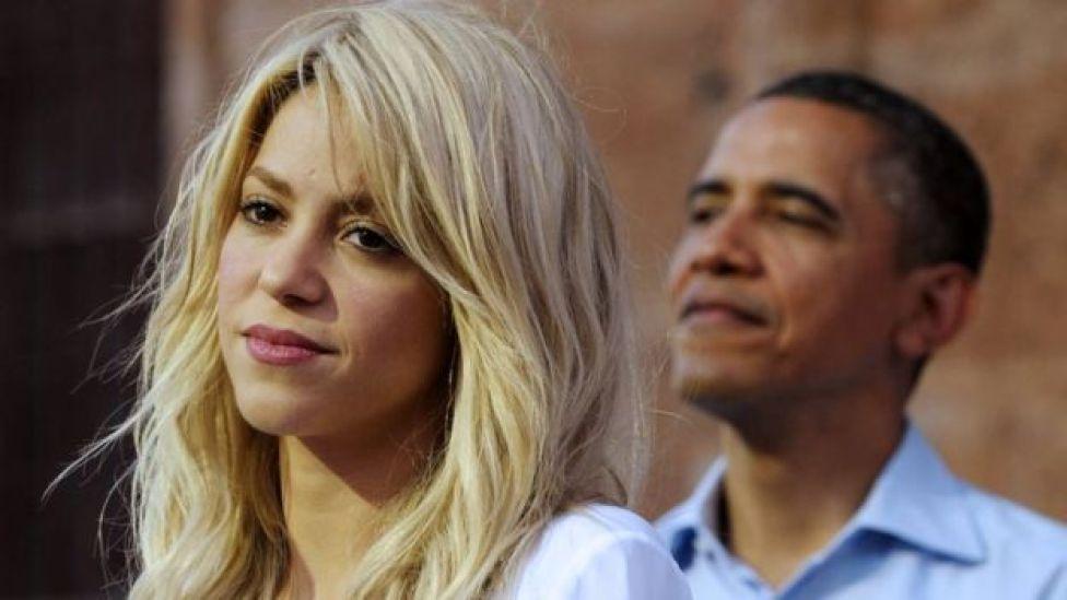 Shakira with President Obama
