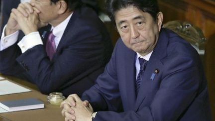 Japanese Prime Minister Shinzo Abe in parliament in Tokyo, Japan - 18 September 2015