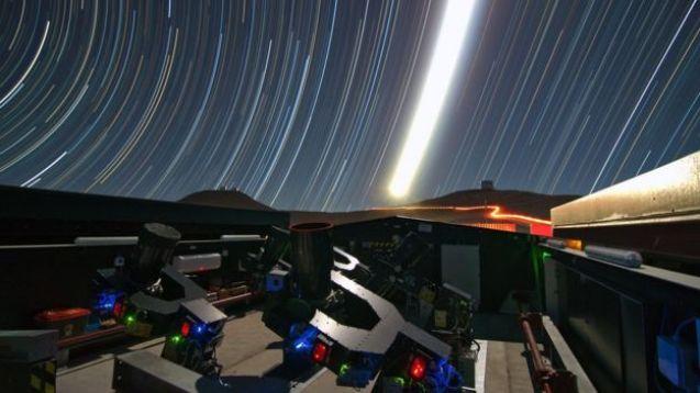 Telescópio no deserto chileno