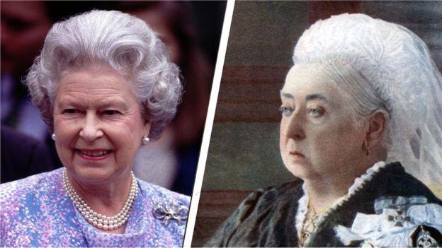 Queen Elizabeth and Queen Victoria