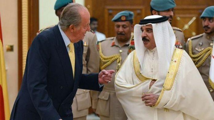 King Juan Carlos and Bahraini King Hamad bin Isa Al-Khalifa in 2014