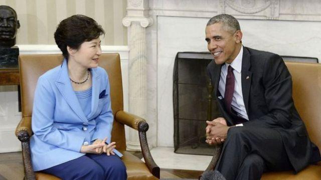 President Barack Obama meets with President Park