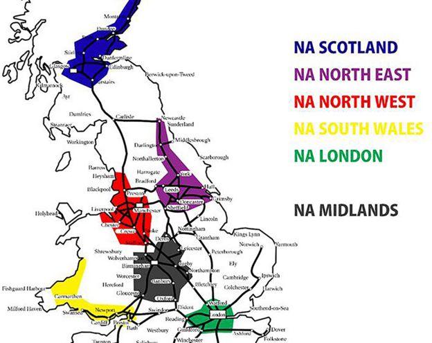 Mapa regional do Ação Nacional