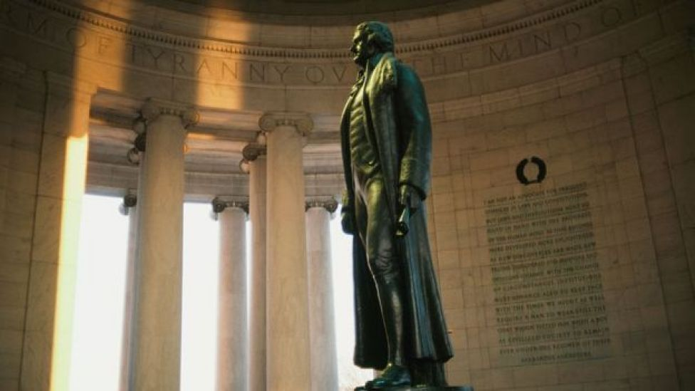 Estatua de Thomas Jefferson en Washington D.F.
