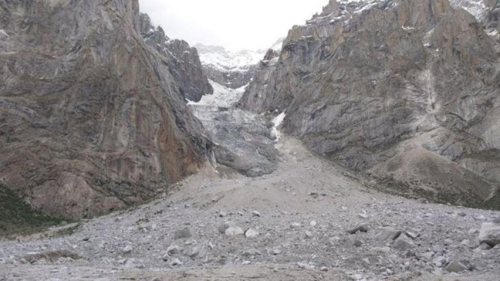 El lugar de la avalancha, llamado Gayari.