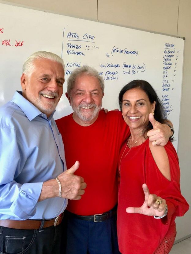 Jaques Wagner, Lula e Teresa em São Paulo