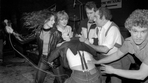 Trouble at a Slits gig, sometime in the 1970s