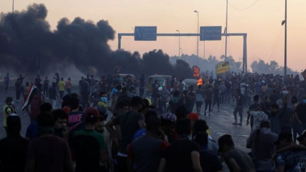 جانب من مظاهرات العراق