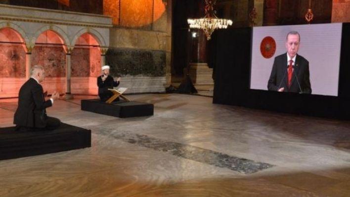 Erdoğan Ayasofya'nın ibadete açılması için çalışma başlatılması kararı verdi