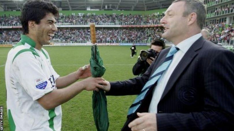 Luis Suárez e Ron Jans