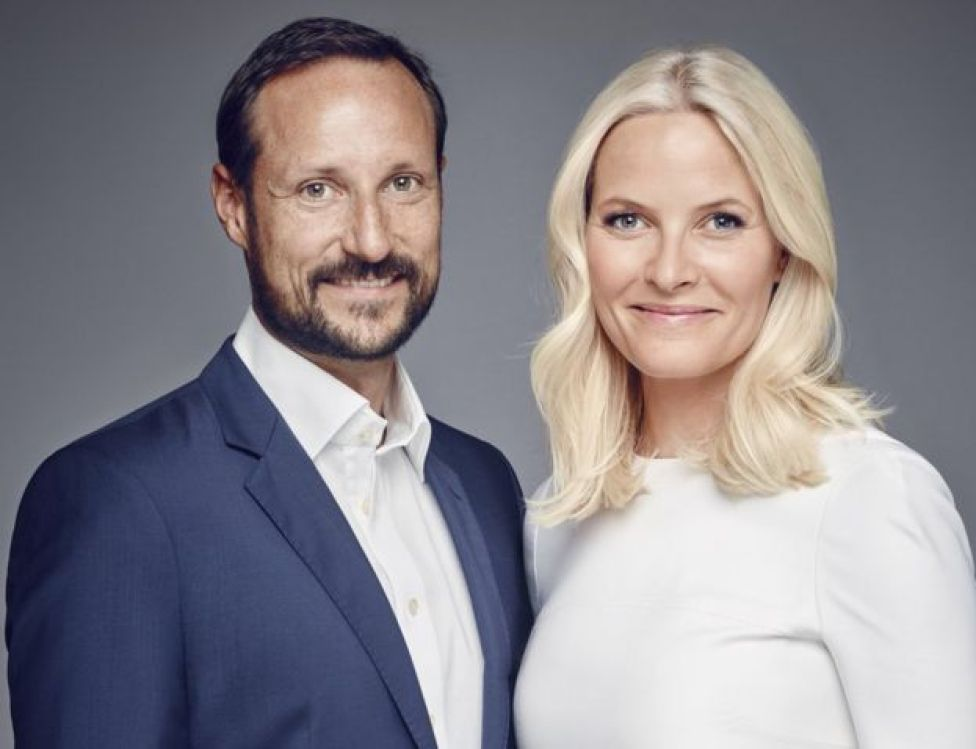 Crown Prince Haakon pictured with Princess Mette-Marit