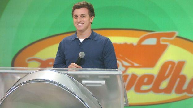 Luciano Huck em seu programa na TV Globo