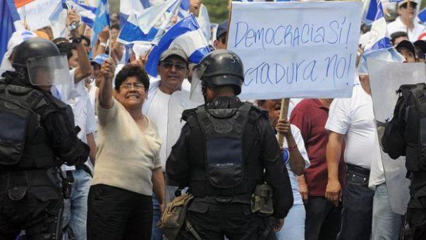 Protesta política en Nicaragua.
