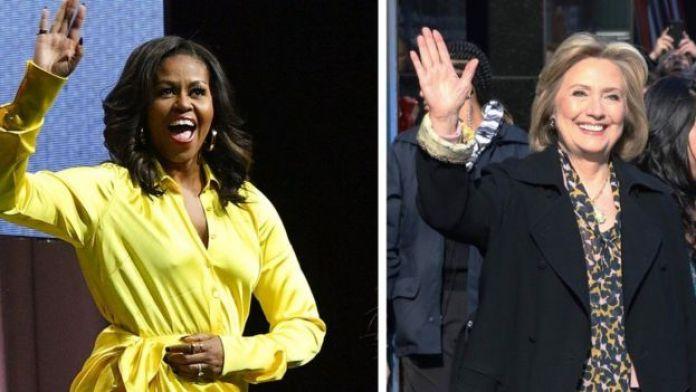 Les anciennes premières dames américaines : Michelle Obama et Hillary Clinton