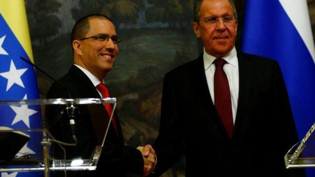 Arreaza y Lavrov.