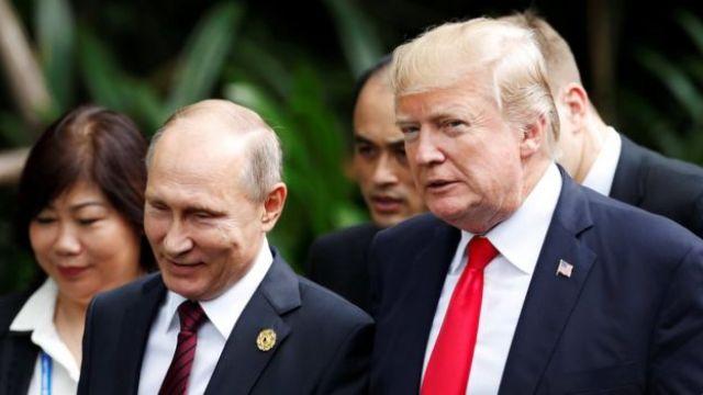 File photo: Donald Trump and Vladimir Putin in 2017