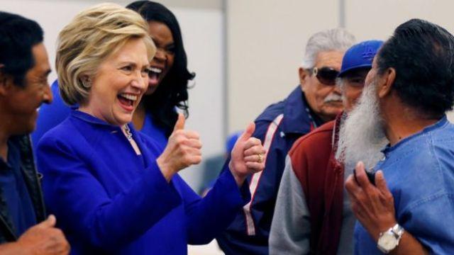 Hillary Clinton at campaign stop in Compton, California - 6 June