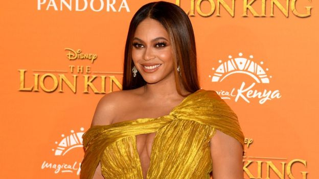 Beyonce attends the London premiere earlier this month