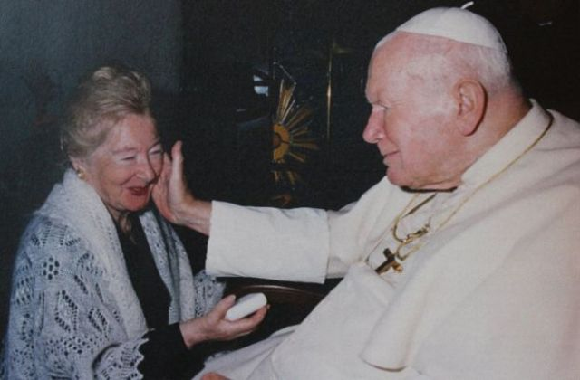 The Pope at the Vatican with Anna-Teresa Tymieniecka