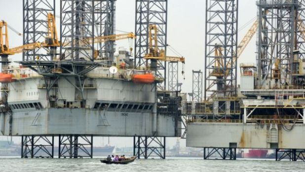 Lagos oil platforms