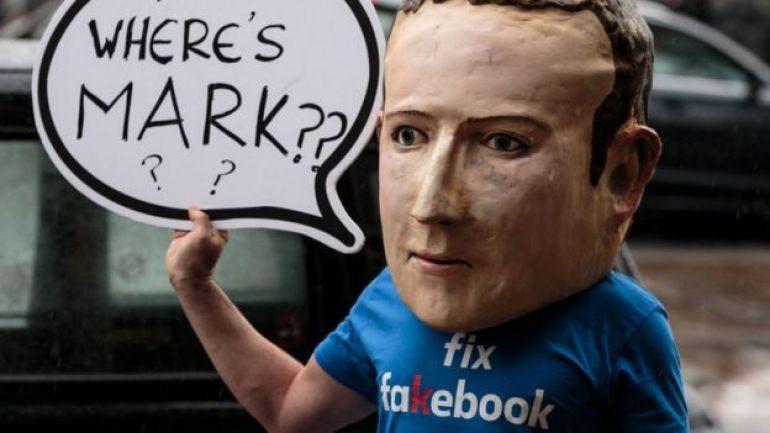 Protestas en EE.UU. sobre Facebook