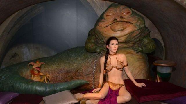 Jabba the Hutt and Princess Leia