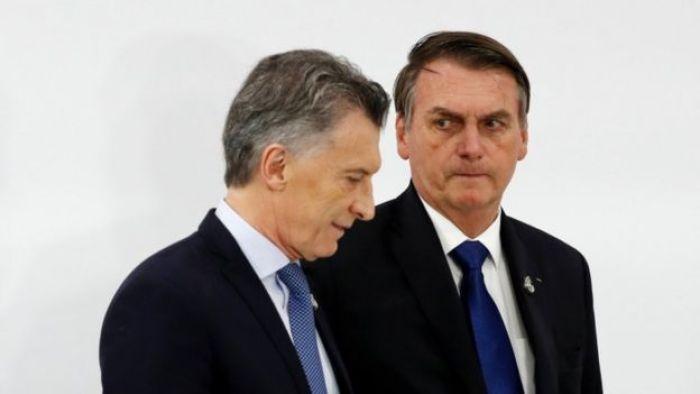 Macri e Bolsonaro, durante cúpula do G20 em junho