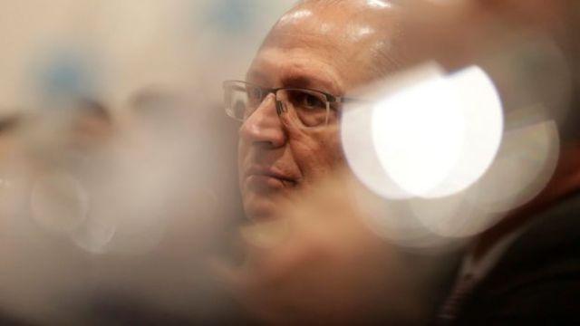 O candidato à presidência Geraldo Alckmin