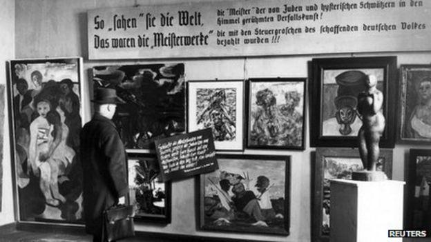 Image result for degenerate art exhibition