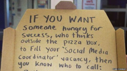 How to write a successful CV   BBC News     daughter Pizza box resume