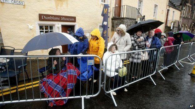 Fans in Dunblane