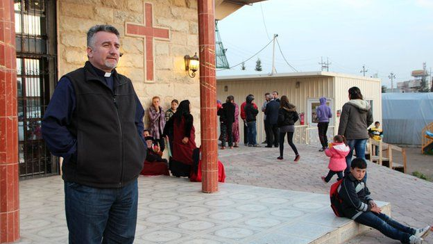 Father Douglas Bazi, a Catholic priest at St Ilyas Church in Erbil