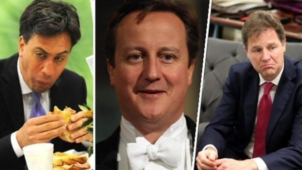 Miliband, Cameron and Clegg